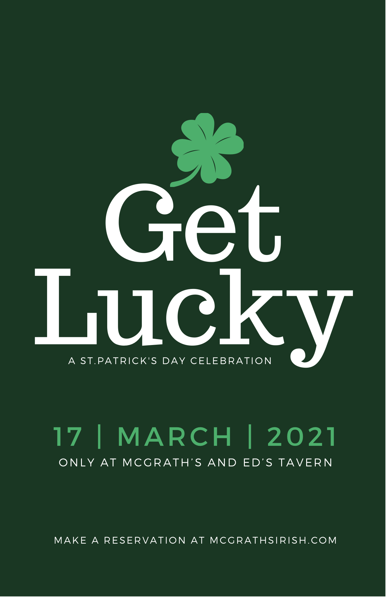 Celebrate St. Patrick's Day with Us!